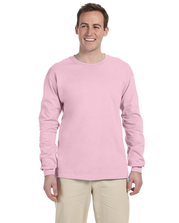 Gildan Adult Ultra Cotton®  Long-Sleeve T-Shirt LIGHT PINK