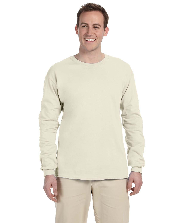 Gildan Adult Ultra Cotton®  Long-Sleeve T-Shirt NATURAL