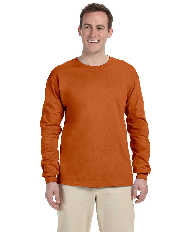 Gildan Adult Ultra Cotton®  Long-Sleeve T-Shirt T ORANGE