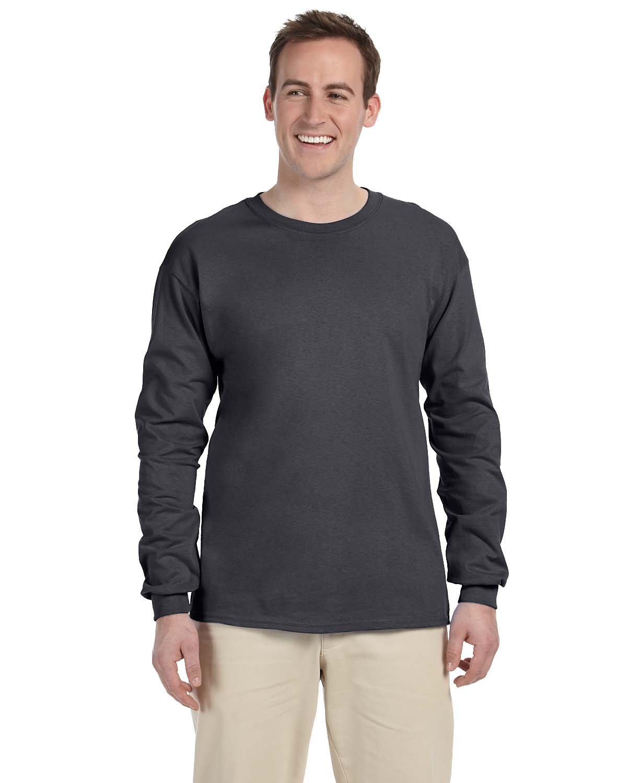 Gildan Adult Ultra Cotton®  Long-Sleeve T-Shirt CHARCOAL