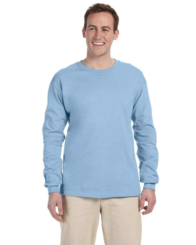 Gildan Adult Ultra Cotton®  Long-Sleeve T-Shirt LIGHT BLUE
