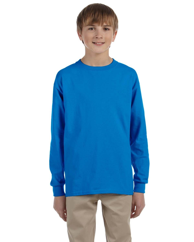 Gildan Youth Ultra Cotton®  Long-Sleeve T-Shirt SAPPHIRE