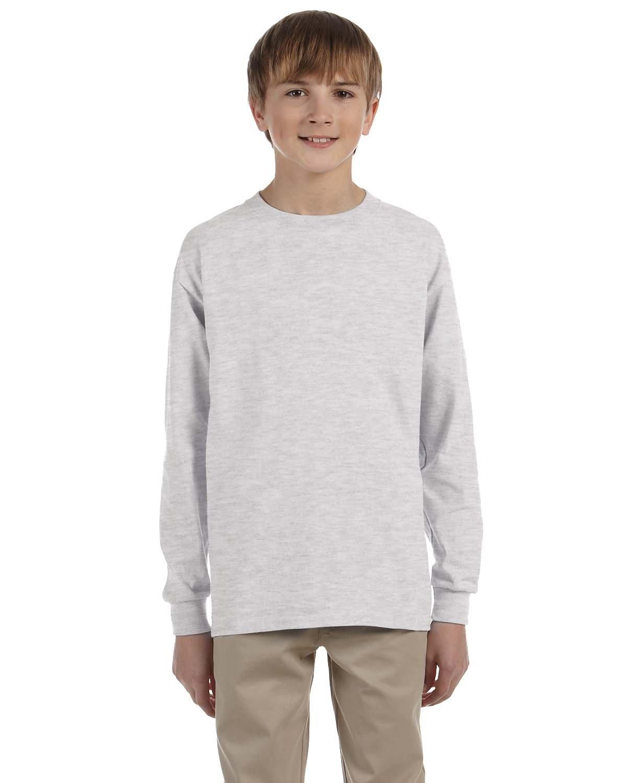 Gildan Youth Ultra Cotton®  Long-Sleeve T-Shirt ASH GREY