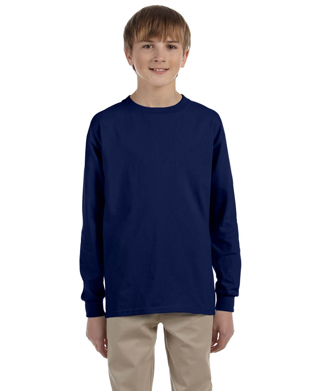 Gildan Youth Ultra Cotton®  Long-Sleeve T-Shirt NAVY