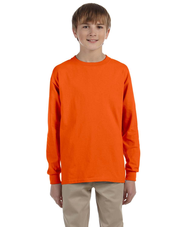 Gildan Youth Ultra Cotton®  Long-Sleeve T-Shirt ORANGE