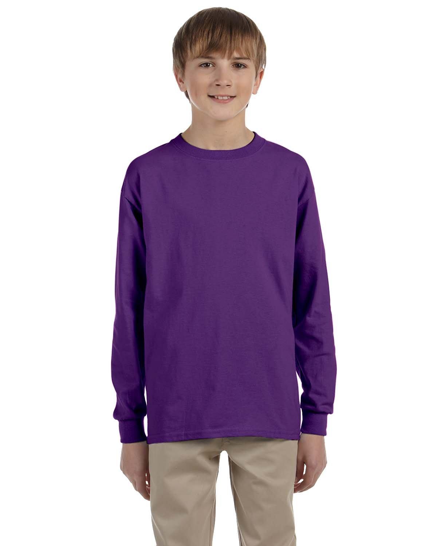 Gildan Youth Ultra Cotton®  Long-Sleeve T-Shirt PURPLE