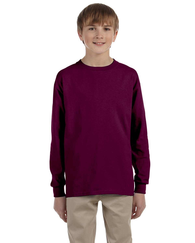 Gildan Youth Ultra Cotton®  Long-Sleeve T-Shirt MAROON