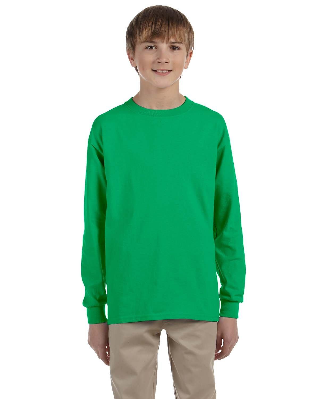 Gildan Youth Ultra Cotton®  Long-Sleeve T-Shirt IRISH GREEN