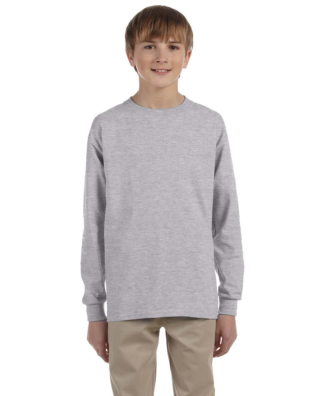 Gildan Youth Ultra Cotton®  Long-Sleeve T-Shirt SPORT GREY