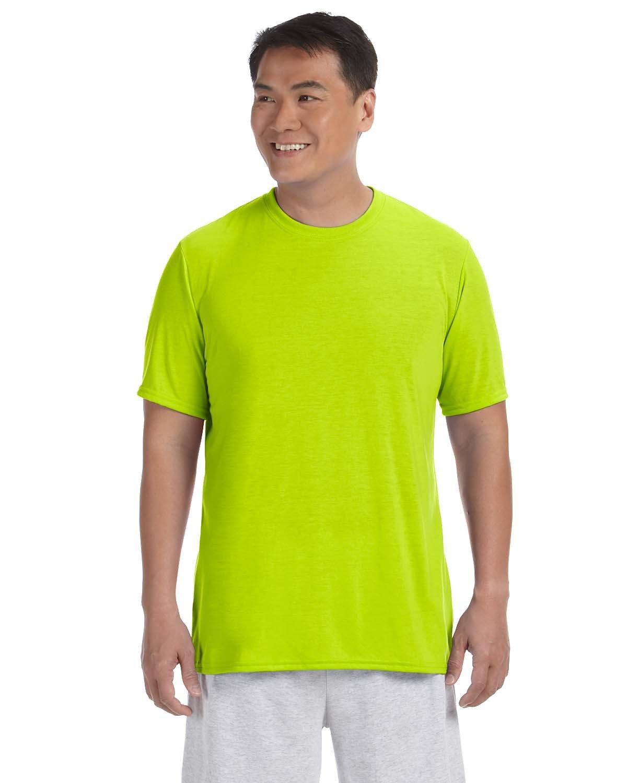Gildan Adult Performance® Adult T-Shirt SAFETY GREEN