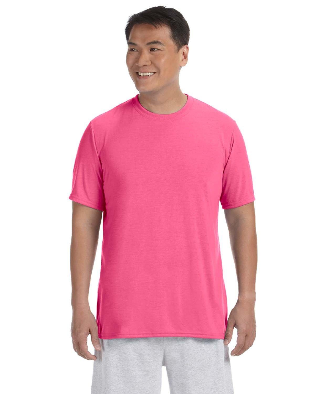 Gildan Adult Performance® Adult T-Shirt SAFETY PINK