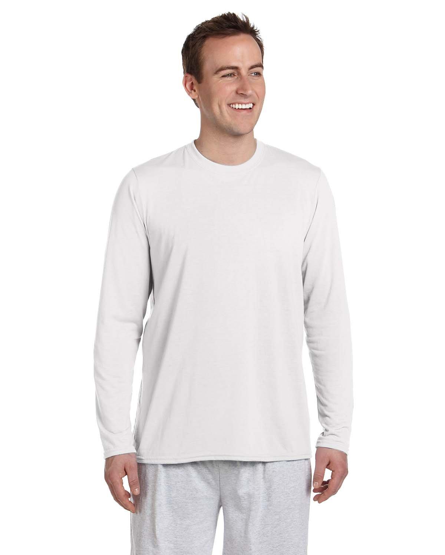 Gildan Adult Performance® Adult Long-Sleeve T-Shirt WHITE