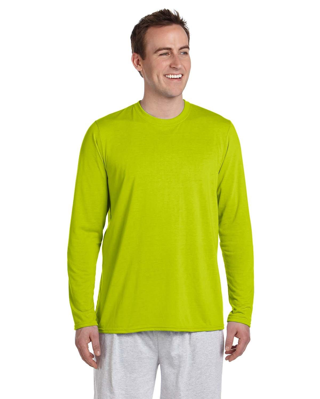Gildan Adult Performance® Adult Long-Sleeve T-Shirt SAFETY GREEN
