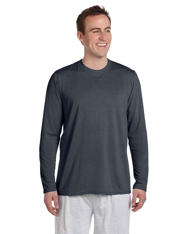 Gildan Adult Performance® Adult Long-Sleeve T-Shirt CHARCOAL