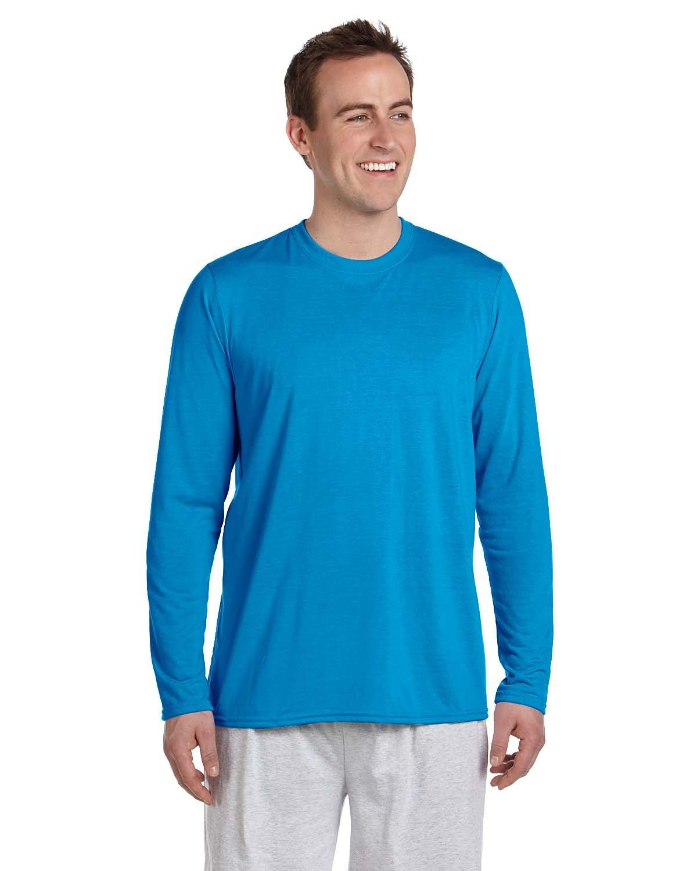 Gildan Adult Performance® Adult Long-Sleeve T-Shirt SAPPHIRE