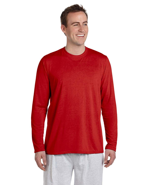 Gildan Adult Performance® Adult Long-Sleeve T-Shirt RED