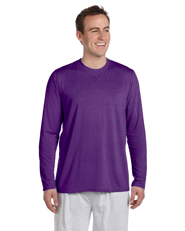 Gildan Adult Performance® Adult Long-Sleeve T-Shirt PURPLE