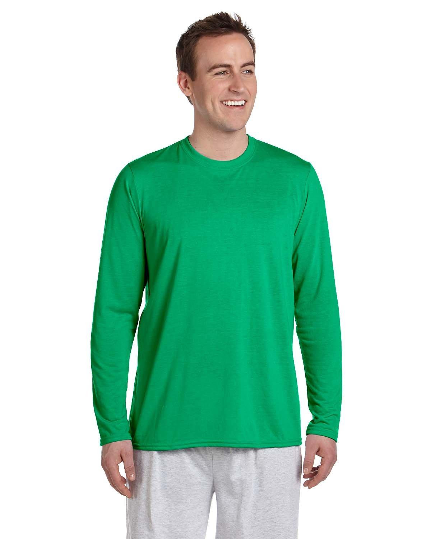 Gildan Adult Performance® Adult Long-Sleeve T-Shirt IRISH GREEN