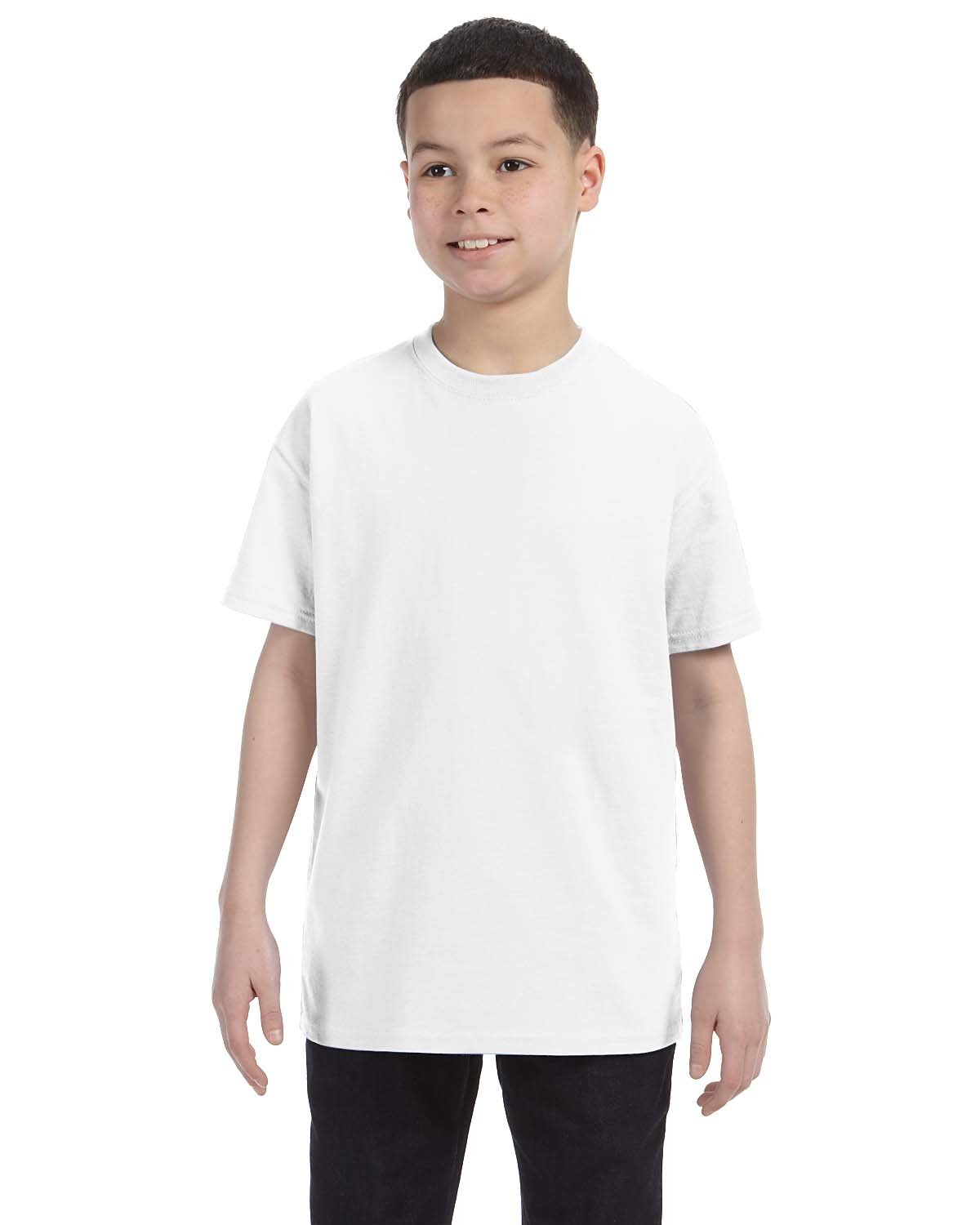 Gildan Youth  Heavy Cotton™ 5.3 oz. T-Shirt WHITE