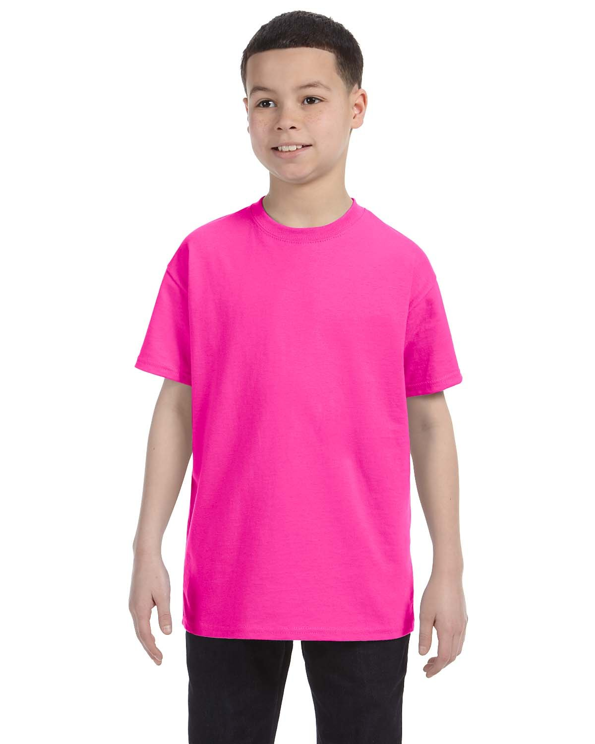 Gildan Youth  Heavy Cotton™ 5.3 oz. T-Shirt AZALEA