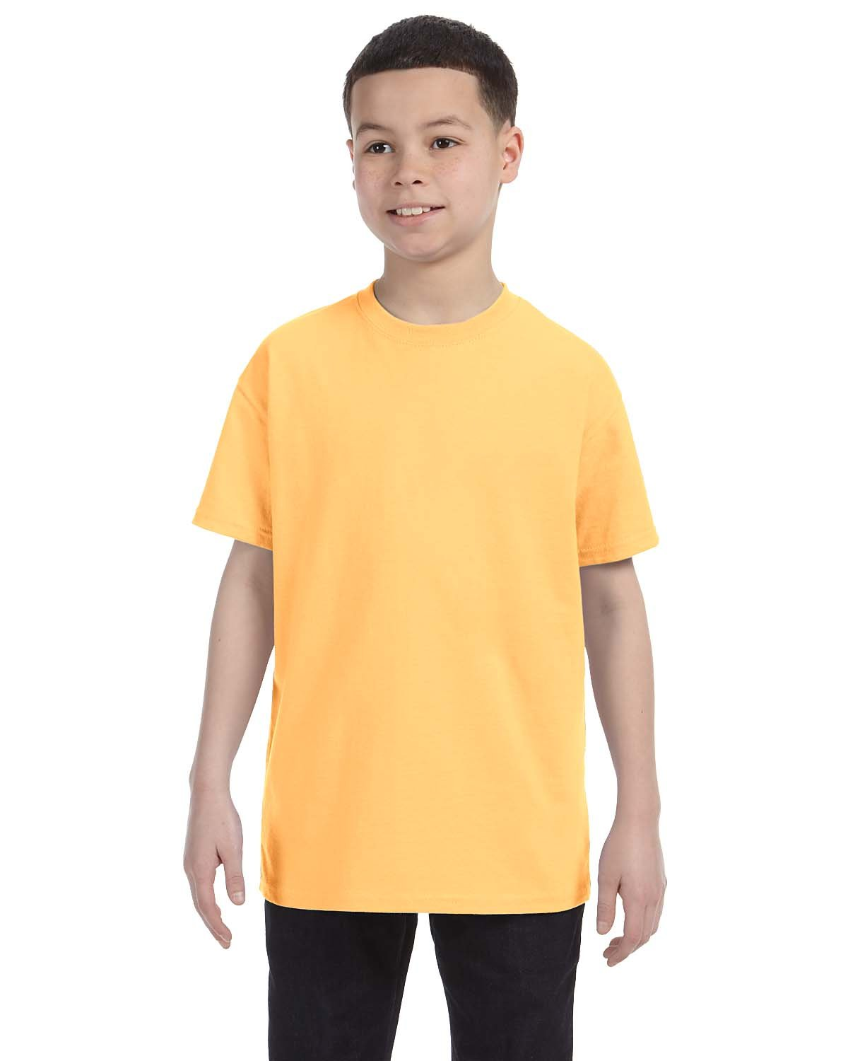 Gildan Youth  Heavy Cotton™ 5.3 oz. T-Shirt YELLOW HAZE