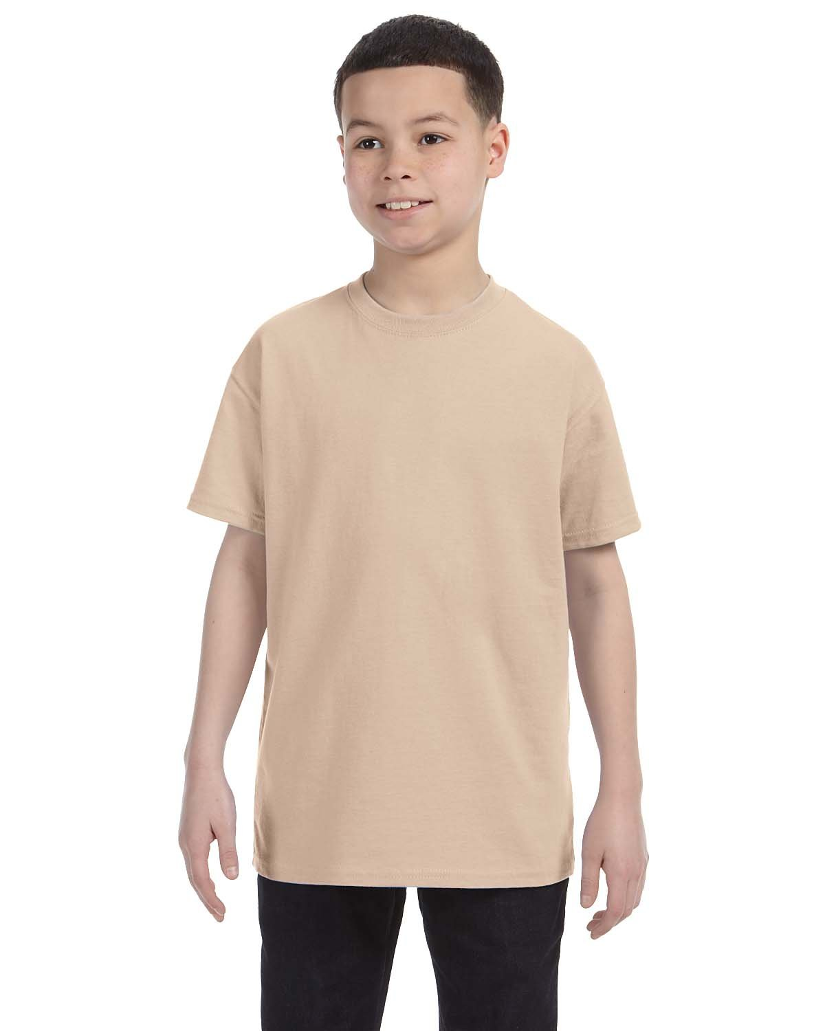 Gildan Youth  Heavy Cotton™ 5.3 oz. T-Shirt SAND