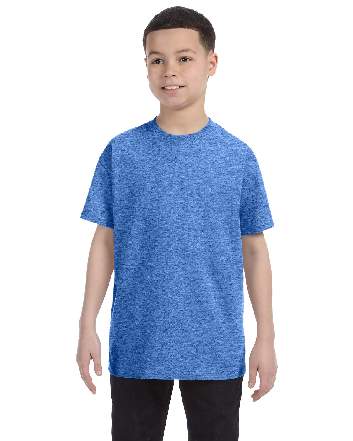 Gildan Youth  Heavy Cotton™ 5.3 oz. T-Shirt HEATHER ROYAL