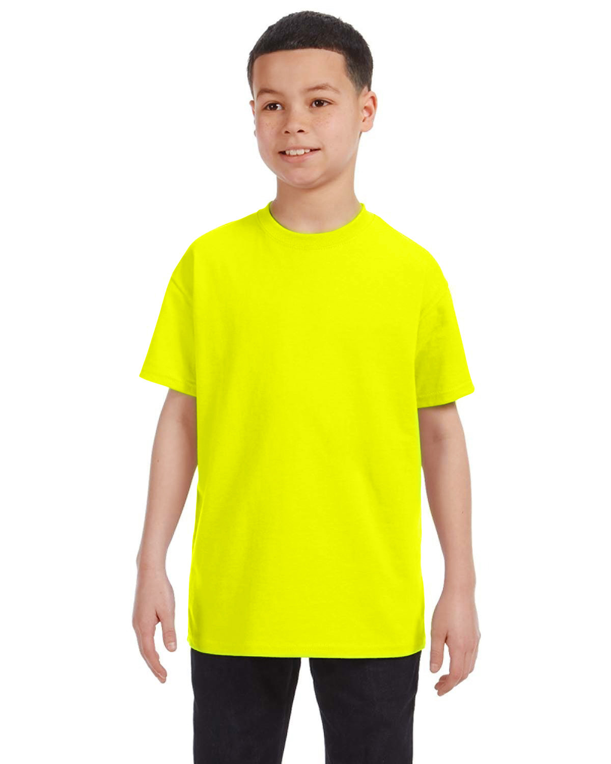 Gildan Youth  Heavy Cotton™ 5.3 oz. T-Shirt SAFETY GREEN