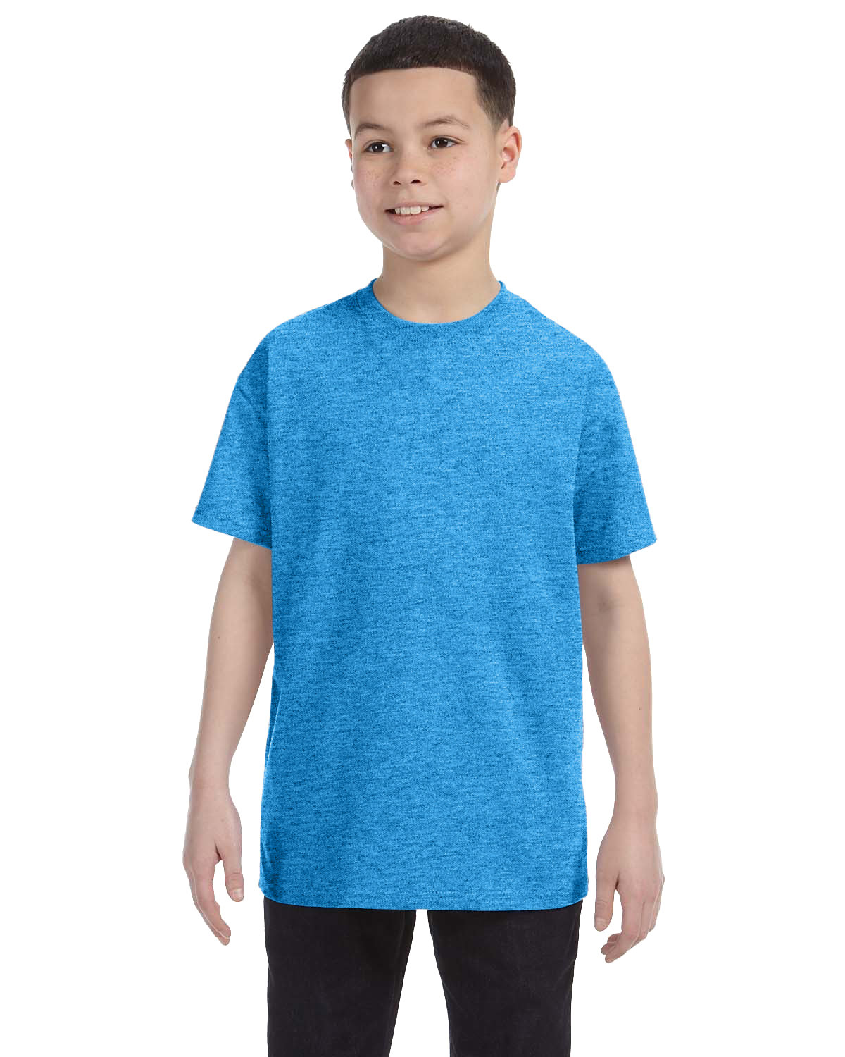 Gildan Youth  Heavy Cotton™ 5.3 oz. T-Shirt HEATHER SAPPHIRE