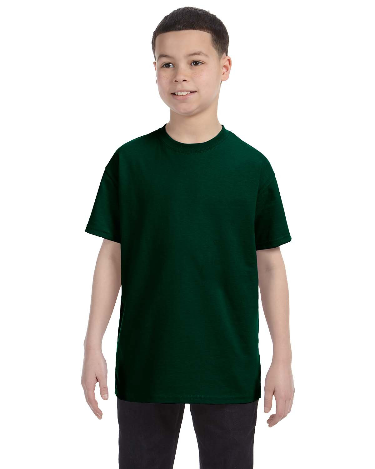 Gildan Youth  Heavy Cotton™ 5.3 oz. T-Shirt FOREST GREEN