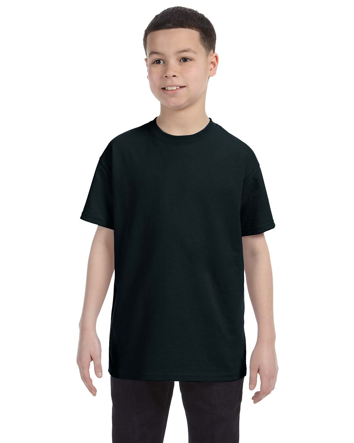 Gildan Youth  Heavy Cotton™ 5.3 oz. T-Shirt BLACK