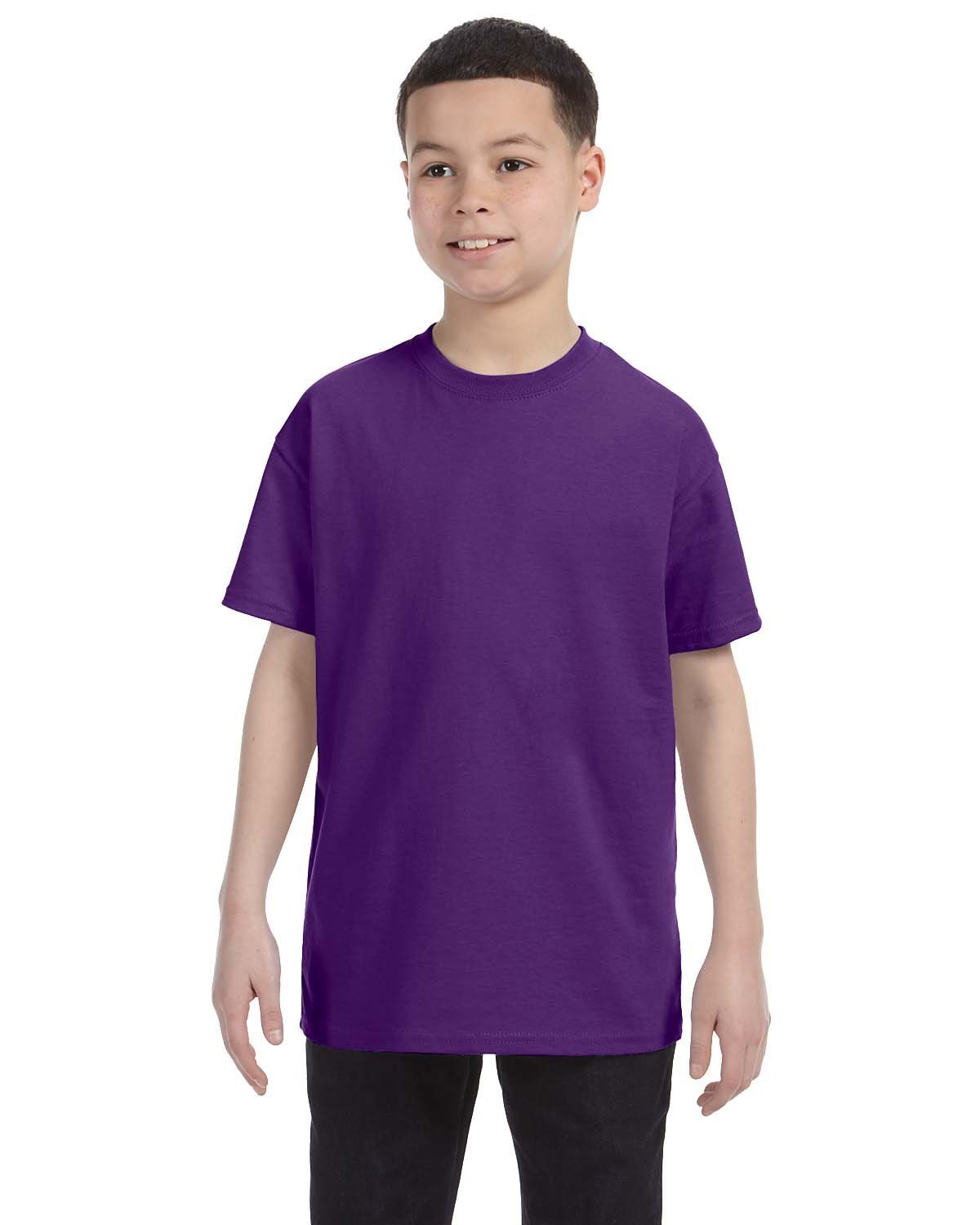 Gildan Youth  Heavy Cotton™ 5.3 oz. T-Shirt PURPLE
