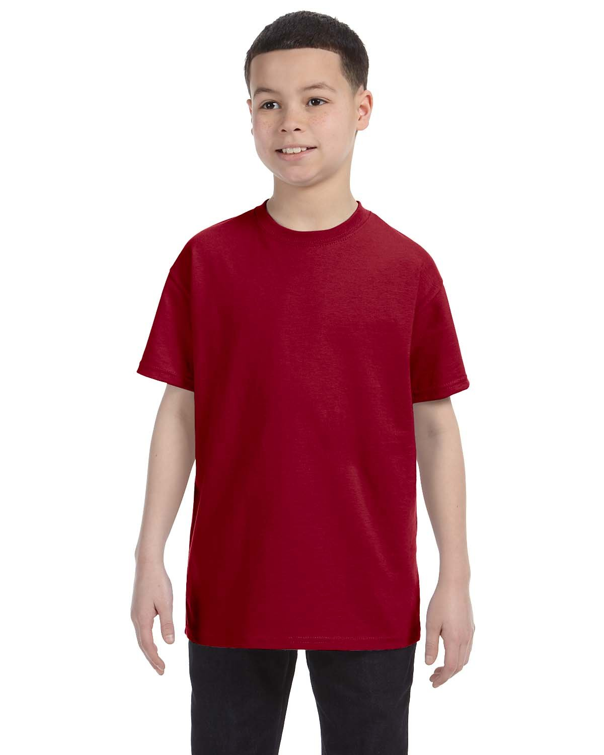 Gildan Youth  Heavy Cotton™ 5.3 oz. T-Shirt CARDINAL RED