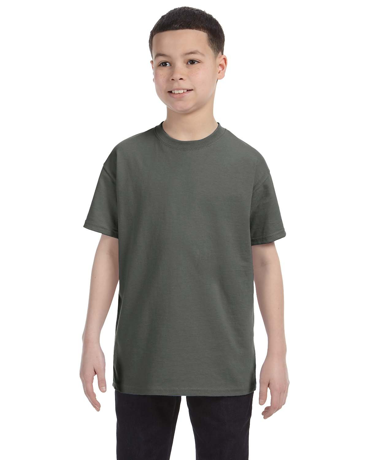 Gildan Youth  Heavy Cotton™ 5.3 oz. T-Shirt MILITARY GREEN