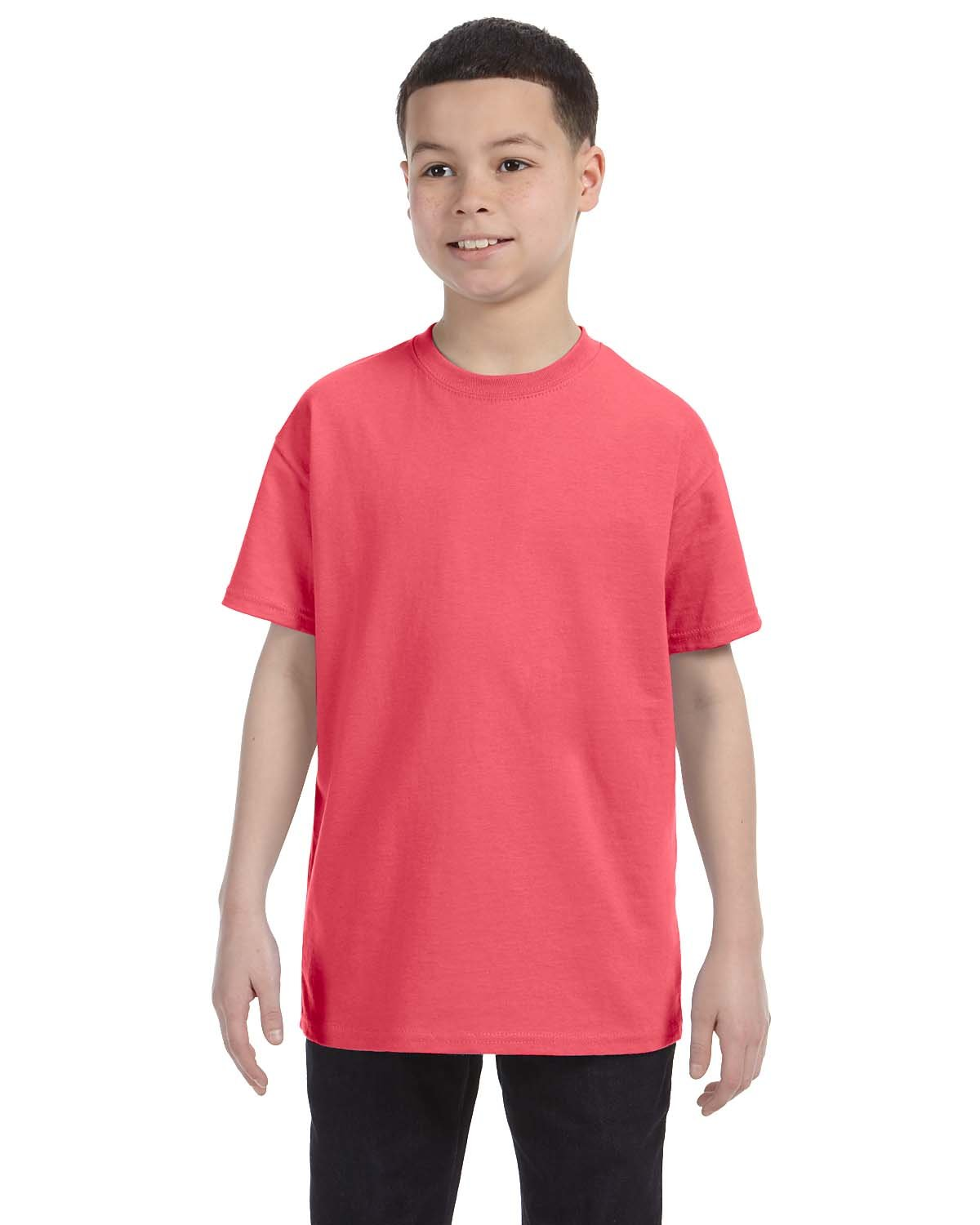 Gildan Youth  Heavy Cotton™ 5.3 oz. T-Shirt CORAL SILK