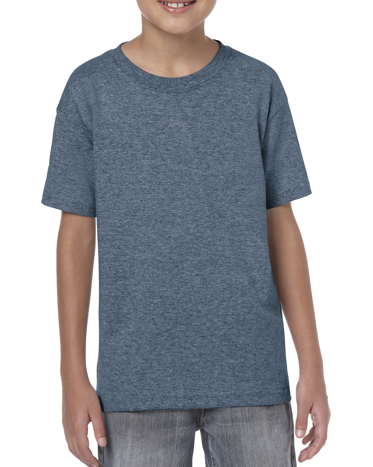 Gildan Youth  Heavy Cotton™ 5.3 oz. T-Shirt HEATHER NAVY