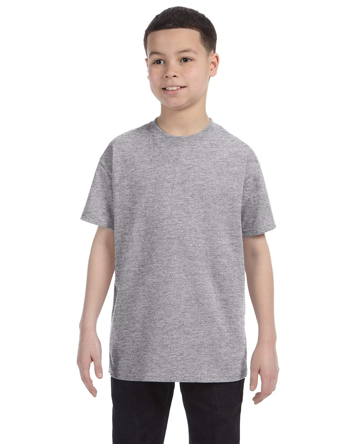 Gildan Youth  Heavy Cotton™ 5.3 oz. T-Shirt SPORT GREY