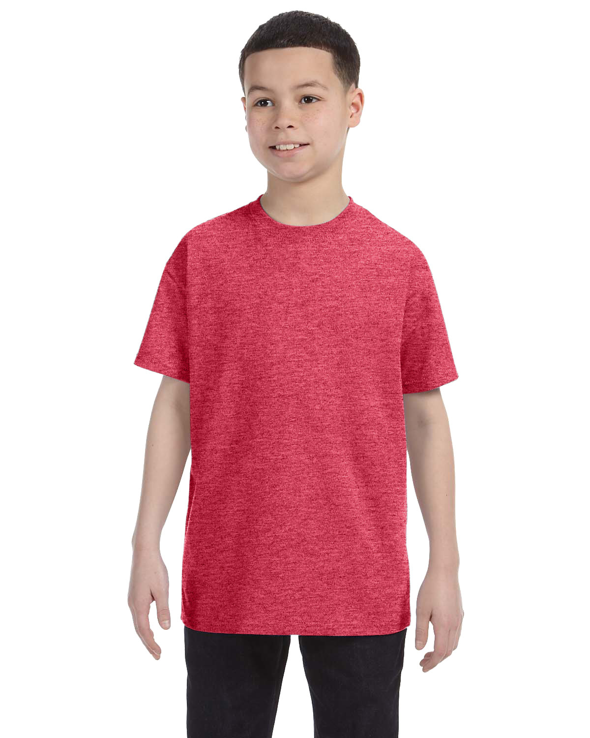 Gildan Youth  Heavy Cotton™ 5.3 oz. T-Shirt HEATHER RED
