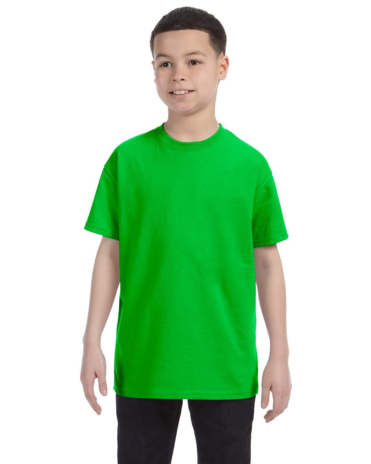 Gildan Youth  Heavy Cotton™ 5.3 oz. T-Shirt ELECTRIC GREEN