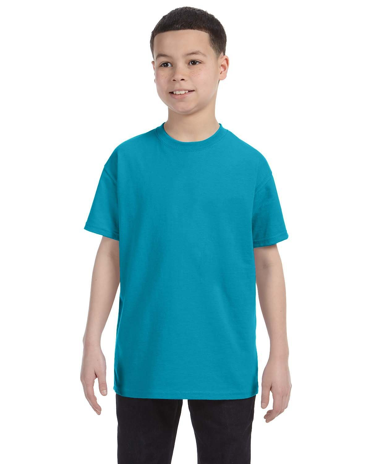 Gildan Youth  Heavy Cotton™ 5.3 oz. T-Shirt TROPICAL BLUE