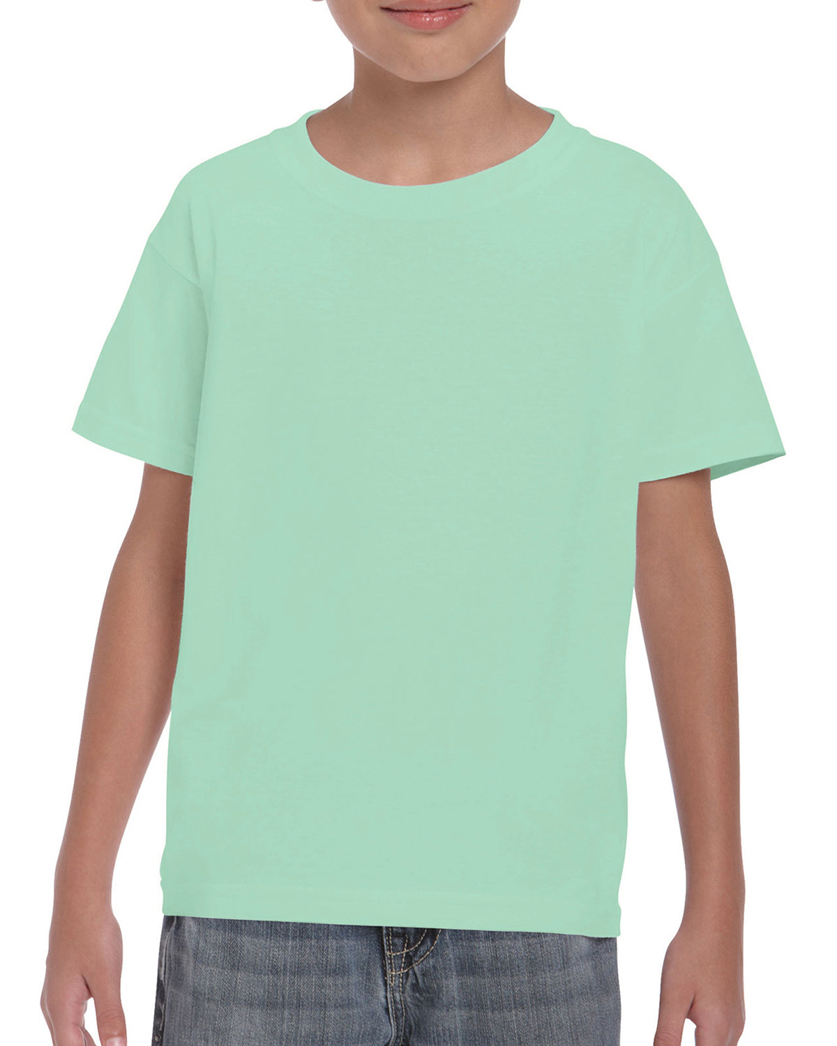 Gildan Youth  Heavy Cotton™ 5.3 oz. T-Shirt MINT GREEN