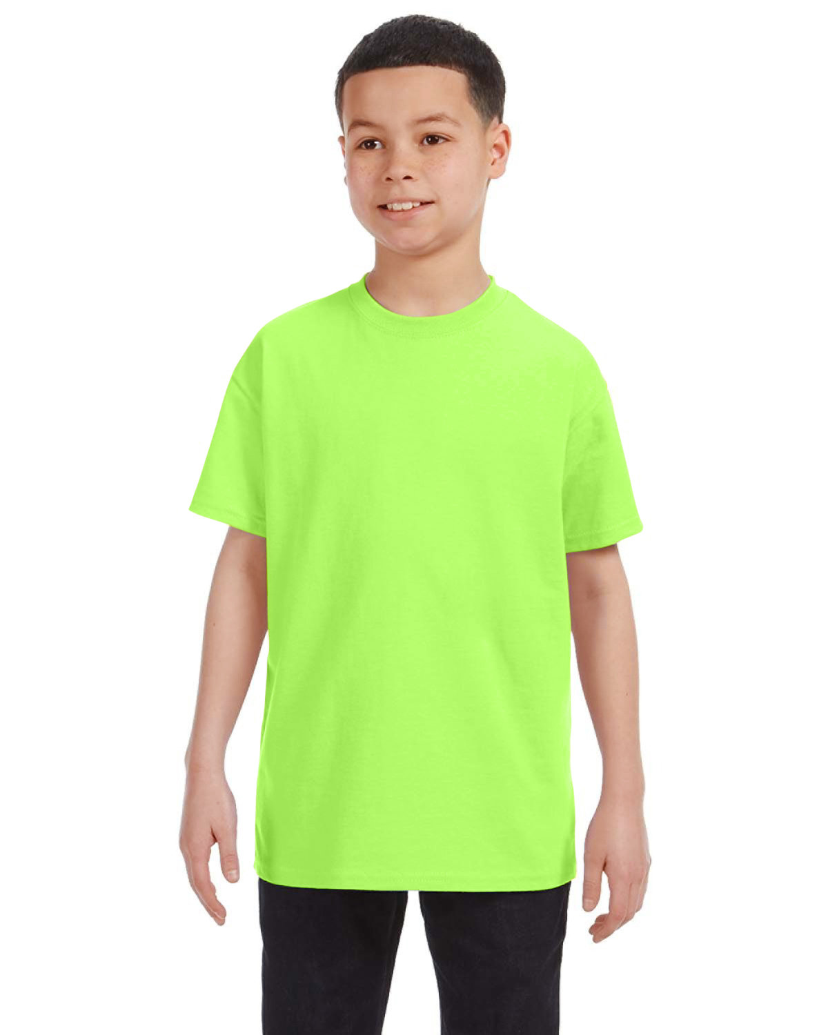 Gildan Youth  Heavy Cotton™ 5.3 oz. T-Shirt NEON GREEN