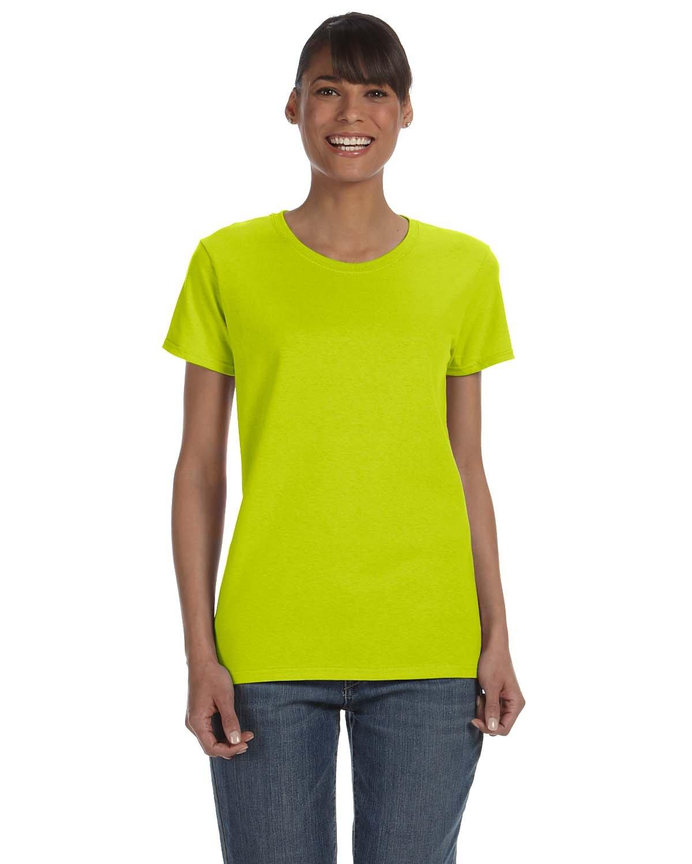 Gildan Ladies' Heavy Cotton™ T-Shirt SAFETY GREEN