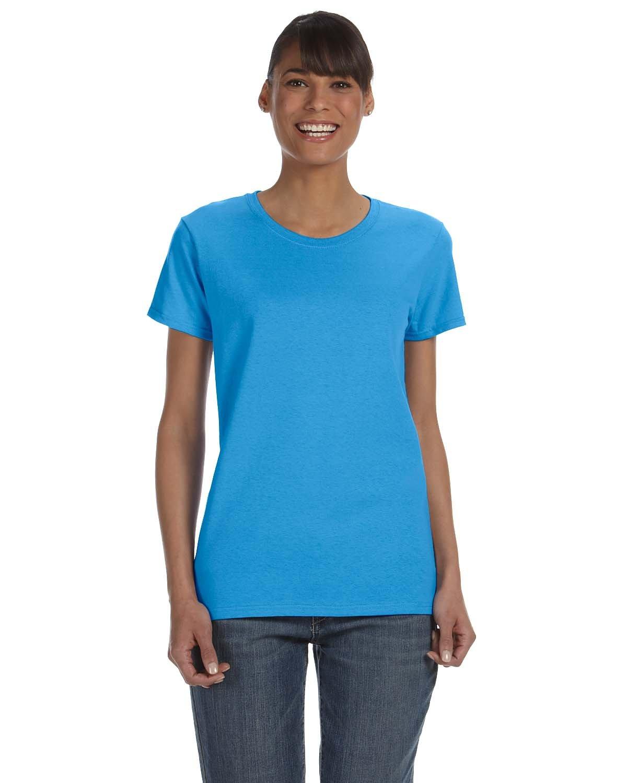 Gildan Ladies' Heavy Cotton™ T-Shirt HEATHER SAPPHIRE
