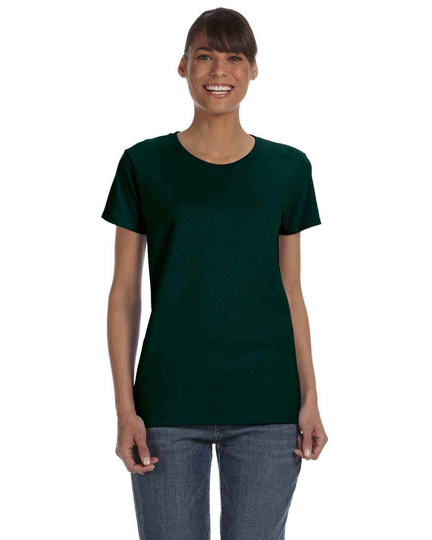 Gildan Ladies' Heavy Cotton™ T-Shirt FOREST GREEN