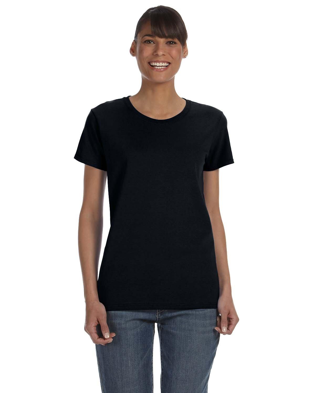 Gildan Ladies' Heavy Cotton™ T-Shirt BLACK