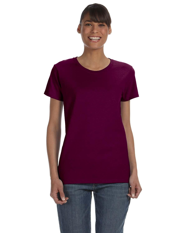 Gildan Ladies' Heavy Cotton™ T-Shirt MAROON