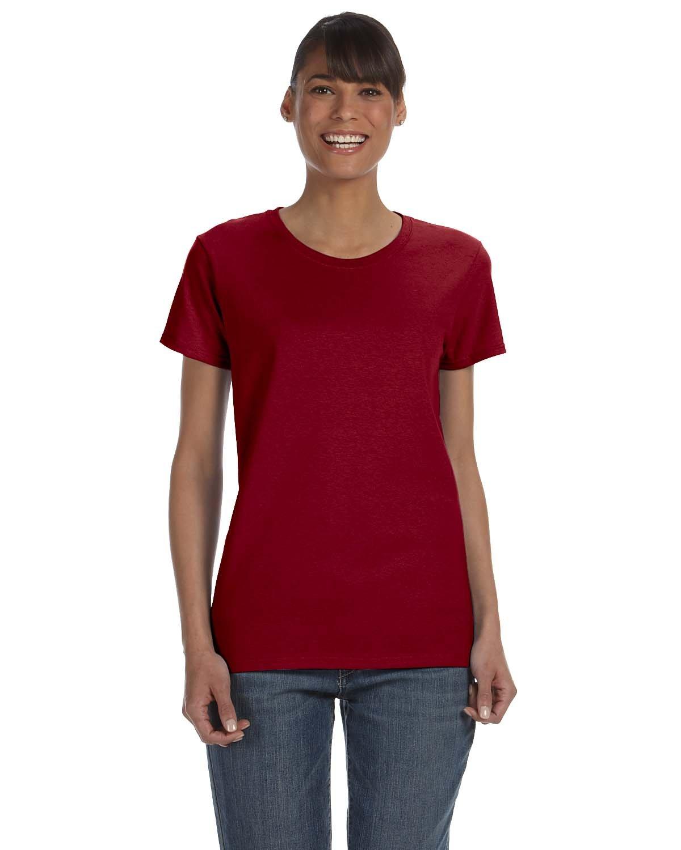 Gildan Ladies' Heavy Cotton™ T-Shirt ANT CHERRY RED