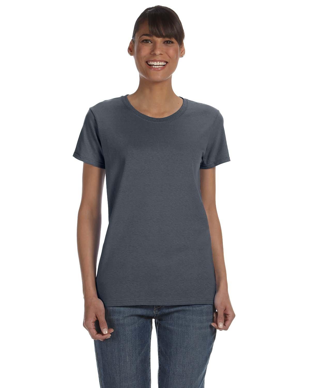 Gildan Ladies' Heavy Cotton™ T-Shirt DARK HEATHER