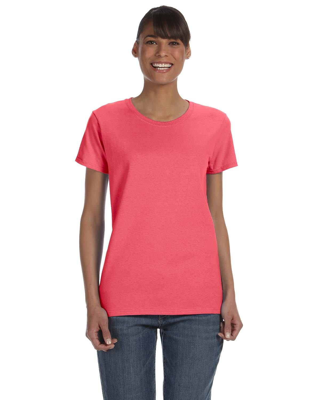 Gildan Ladies' Heavy Cotton™ T-Shirt CORAL SILK